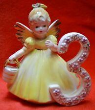 Vintage Josef Original - Birthday Girl Angel - Age 3 - Holding A Bucket Japan