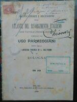 1900 GIUDIZI SU ATLANTE RISORGINENTO DI UGO PARMEGGIANI. CAVALLEGGERI MONFERRATO
