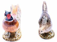 More details for pheasant salt and pepper pots shakers by quail pottery shooting gift clearance
