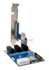 PCI-E 1X Expansion Kit 1 to 3 Ports Switch Multiplier Hub Riser Card + USB Cable