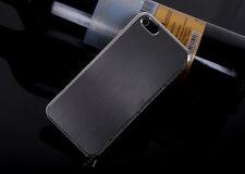 Brushed Metal Hard Cover Case for Apple iPhone 5 5S SE - Black