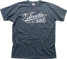 Velocette Camiseta Tt De Carrera Winner Motos Vintage Retro Classic Gris tc01535