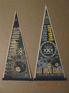 NFL Pittsburgh Steelers 1995 AFC Champions & Super Bowl XXX Logo Pennants
