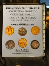Ancient  Modern Coins of the World & US Paper Money and Medals  November 2000