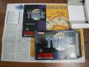 NO GAME Illusion of Time Super Nintendo SNES box manual map