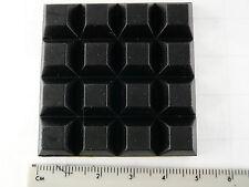 """FL 25pcs Square rubber feet KTT1306 12.5mm(1/2"""")sq x 6.2mm(1/4"""") th."""