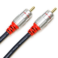 1m - 1 RCA Male to Male Subwoofer/Digital Coaxial Cable Lead - Phono Audio/Video
