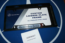 Mercedes Benz Genuine OEM Black Stainless Steel License Plate Frame 6880088