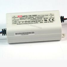 Mean Well MW 12~48V 350mA 16W AC/DC LED Driver APC-16-350 TUV  Brand New