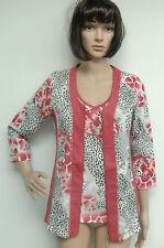 Designer  Twinset  - Helena Vera -  pink/weiß/rot/schwarz     Gr. 36   Neu!