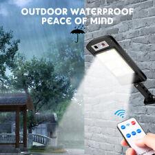 120LED Solar Street Light Commercial Outdoor COB PIR Sensor Dusk-to-Dawn Lamp