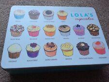 HARRODS - LOLA'S CUPCAKES - PRETTY DECORATIVE METAL STORAGE BOX