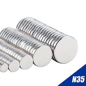 Lot Super Strong N35 Round Disc Neodymium Fridge Magnets Rare Earth Craft DIY