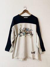Vintage 1991 Looney Tunes Sweatshirt ACME Ice Devils Hockey Long Sleeve - Size L