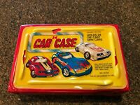 70s Vintage Red Tara Toy Corp 24 Car Diecast Collectors Case Holder 3D