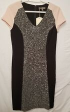 INSPYR SIGNATURE Size 8 Black Beige light pink Dress cute details office party