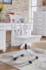 brand new Beata wooden study office computer chair in matt white finish gas lift