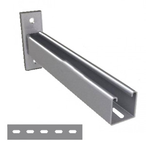 600mm Galvanised Slotted Cantilever Arms (Type: P2663 / 600) x 2 Quantity