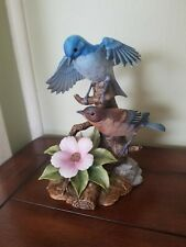 "Andrea by Sadek porcelain bird figurine ""Mountain Bluebird"""