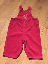 Cord Corduroy Vintage Retro Bhs Baby Dungarees Romper Teddy Bear 0-3 Months