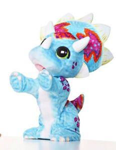 """(works!) FURREAL FRIENDS """"Hoppin Topper"""" Triceratops Dinosaur Animated Plush Toy"""