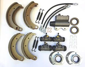 NEW 1939, 1940, 1941 Plymouth Master Brake Rebuild Kit SHOES CYLINDERS HOSES ETC