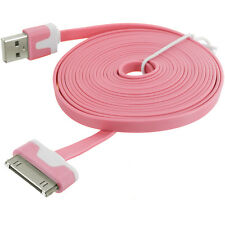 Noodle Shape Cable Apple iPhone 4S 4 IPod USB Data Cable Charger Premium Quality