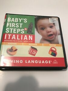 Italian Learning Baby's First Words Audio CD Audiobook Guide Songs Words