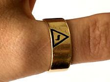Virtus Junxit Mors Non Separabit 14K Gold Scottish Rite Masonic Ring Sz 9.25