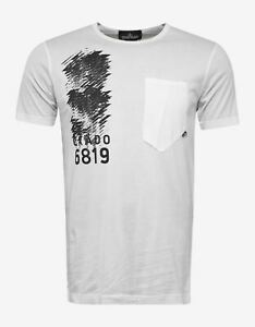 NEW Stone Island Shadow Project White Chest Pocket Graphic T-Shirt RRP £150