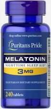 Melatoni 3 mg 240 tablets Puritans Pride - fast delivery to European countries