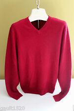 NEW! Daniel Bishop 100% Cashmere Men's V-Neck Luxurious Red Sweater S $240