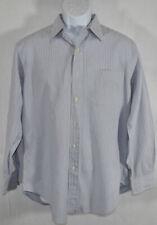 Mens RALPH LAUREN POLO ANDREW Sz 15.5 Medium BLUE PINSTRIPES DRESS SHIRT 32/33