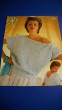 Sirdar Women's Sweater knitting Pattern 6820