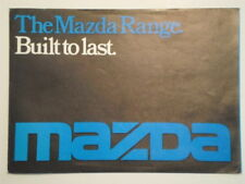 MAZDA RANGE orig 1976 1977 UK Mkt Brochure - 1000 1300 616 818 929 B1600 Pickup