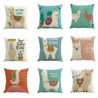 Alpaca Cartoon Print Pillowcase Pillow Case Cushion Cover Sofa Home Car Decor