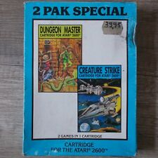Atari 2600 | 7800 ► 2 Pak SPECIAL-Dungeon Master | creature Strike ◄ COMPLETO