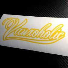 YELLOW Vauxoholic Car Sticker Decal Funny Vauxhall Opel VXR Sri GTC Corsa Astra