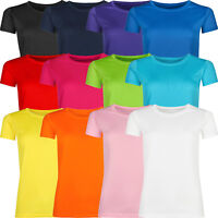 New Ladies Breathable T Shirt Wicking Womens Cool Dry Running Gym Top Sports Lot