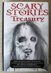 Scary Stories Treasury (Scary Stories #1-3) by Alvin Schwartz HC Illustrated