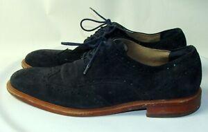 Banana Republic Mens Black Ortholite Suede Oxford Shoes Size 10.5M   DB6