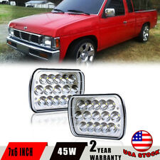 "Pair 7x6"" Inch  LED  Headlights High/low Beam 6000k 45w FOR Nissan Pickup"
