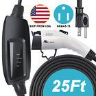 Level 1 Portable EV Charger Cable EVSE SAE J1772 Charging Station 110V 16A 25FT