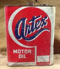 Vintage American Oil Co. Artex Motor Oil Can 2 Gal. Can Gas Station