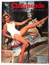CINEMONDE 20/09/1956; J. Ventura/ Joëlle Bernard/ Bourvil/ Kim Novak/ Renoir
