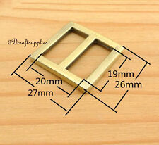 strap adjuster rectangle sliders alloy anti brass 19 mm 3/4 inch 10pcs U85