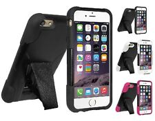 AMZER DOUBLE LAYER HYBRID IMPACT PROTECTION COVER CASE WITH STAND FOR iPHONE 6S