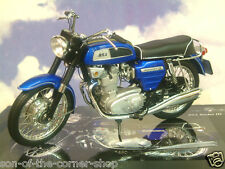 SUPERB DETAILED MINICHAMPS 1/12 1968 BSA ROCKET 3 III METALLIC BLUE 122 130101