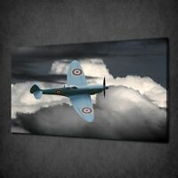 SUPERMARINE SPITFIRE WWII AIRCRAFT RAF BOX CANVAS PRINT WALL ART PICTURE