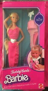 1982 Twirly Curls Barbie #5579 Superstar Era NRFB Mint in Box Vintage Doll